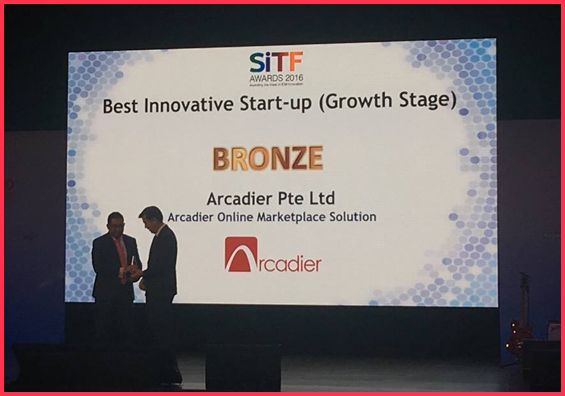 Bronze award to arcadier pte ltd
