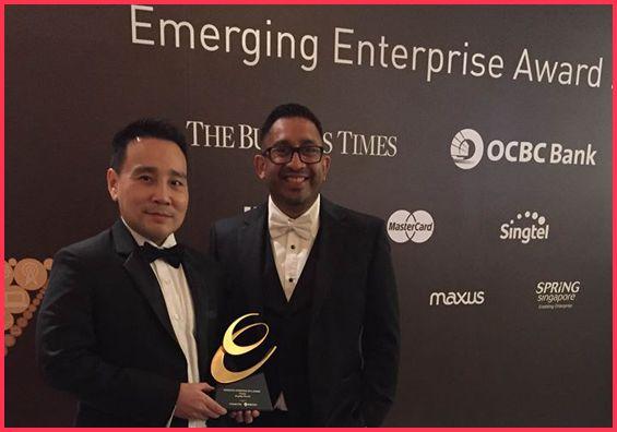 Successful technopreneur at award event