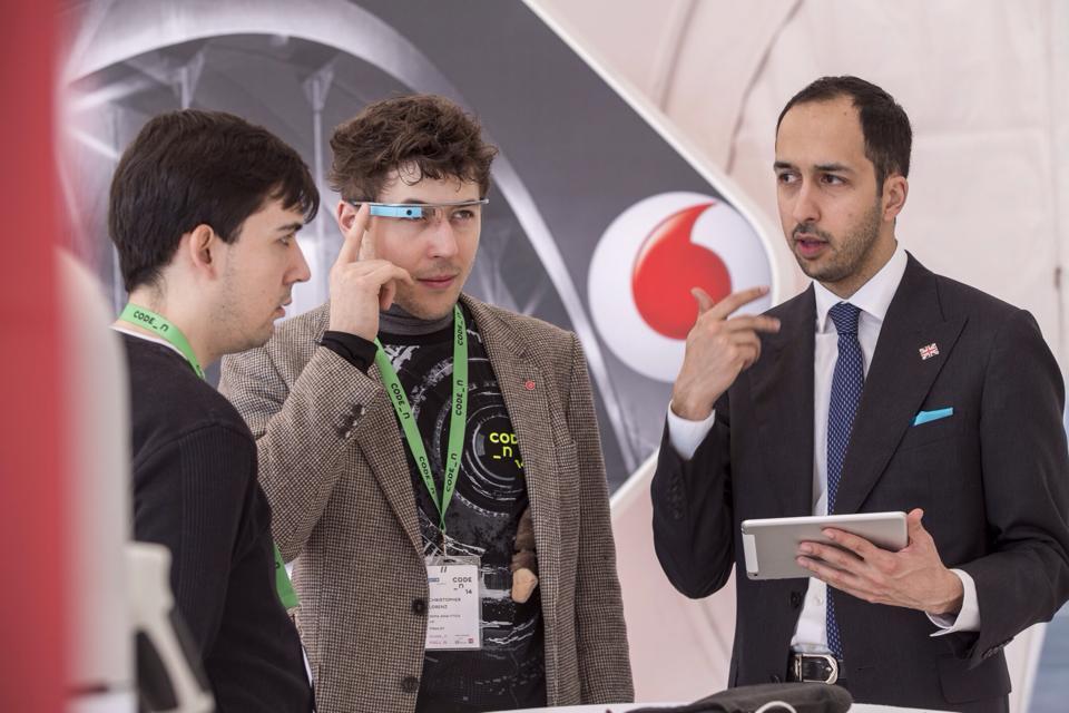 Dan Vahdat addressing queries at an event